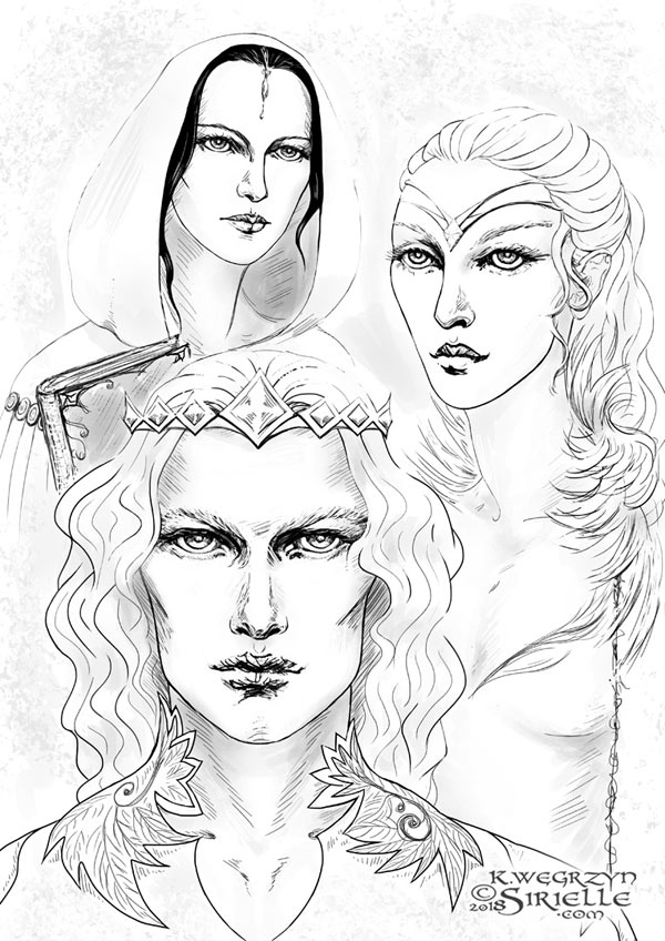 Finarfin, Idril Celebrindal and Anairë (The Silmarillion)