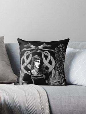 Redbuble Throw Pillow